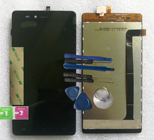RYKKZ For logicomL-EMENT550 LCD Display With Touch Screen Digitizer Assembly Replacement+tools+3M Sticker цена
