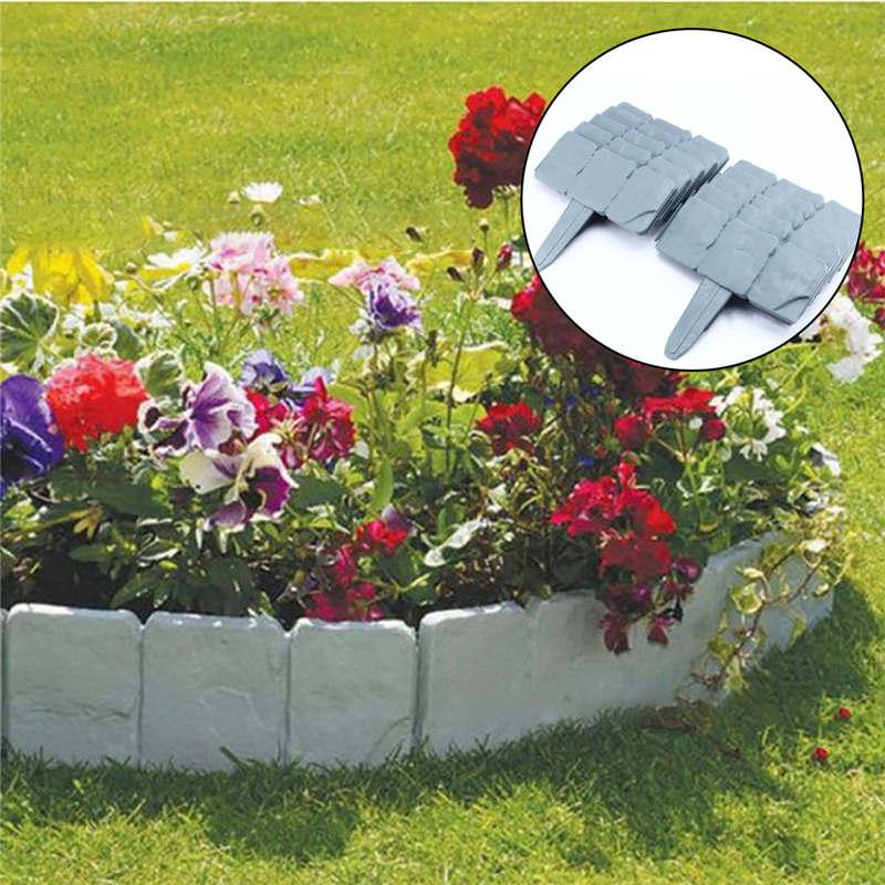 Garden Lawn Border Plastic Resin Barrier Durable Rust Resistant Weather Proof