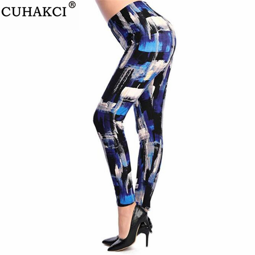 CUHAKCI Push Up Workout Leggin For Woman Print Leggings Women Sporting Fitness Legging High Waist Jeggings Elastic Slim Pants