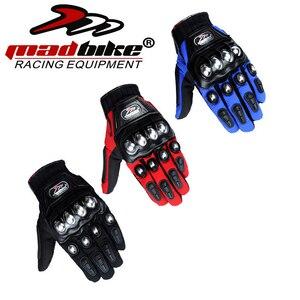 Image 2 - مادبيك قفازات للدراجات النارية قفازات واقية دراجة نارية الفولاذ المقاوم للصدأ الرياضة سباق الطريق التروس دراجة نارية
