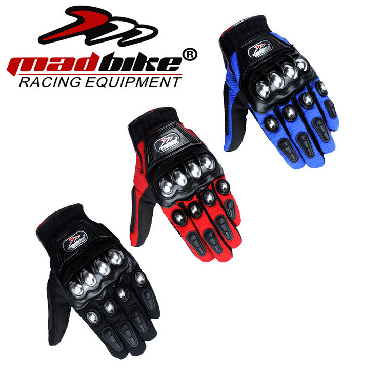 Image 2 - Madbike Motorcycle Gloves protective Gloves motorcycle Stainless Steel Sports Racing Road Gears Motorbike-in Gloves from Automobiles & Motorcycles