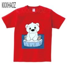 цены на Baby Boys Cotton t shirt 2019 Summer Short Sleeved Print Polar Bear Animal T-shirts girl O-Neck tops Tee for Kids Clothes  NN  в интернет-магазинах