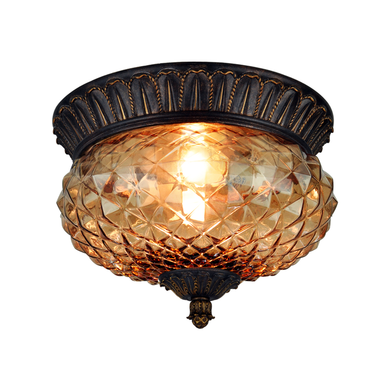 ceiling lamps lighting iron glass lamp ceiling lamps lamp European Pastoral home balcony aisle porch ceiling light ZA919130