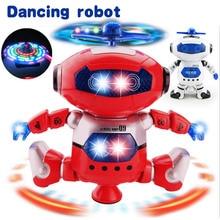 Robot Toy 360 Rotating Dancer Robot Musical Walk Lighten Electronic Toy Robot Christmas Birthday Gift Toy For Child Kid Boy