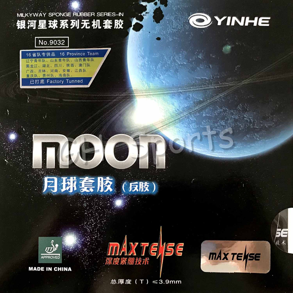 Galaxy  Milky Way  Yinhe Moon Factory Tuned Pips-in Table Tennis PingPong Rubber With Sponge