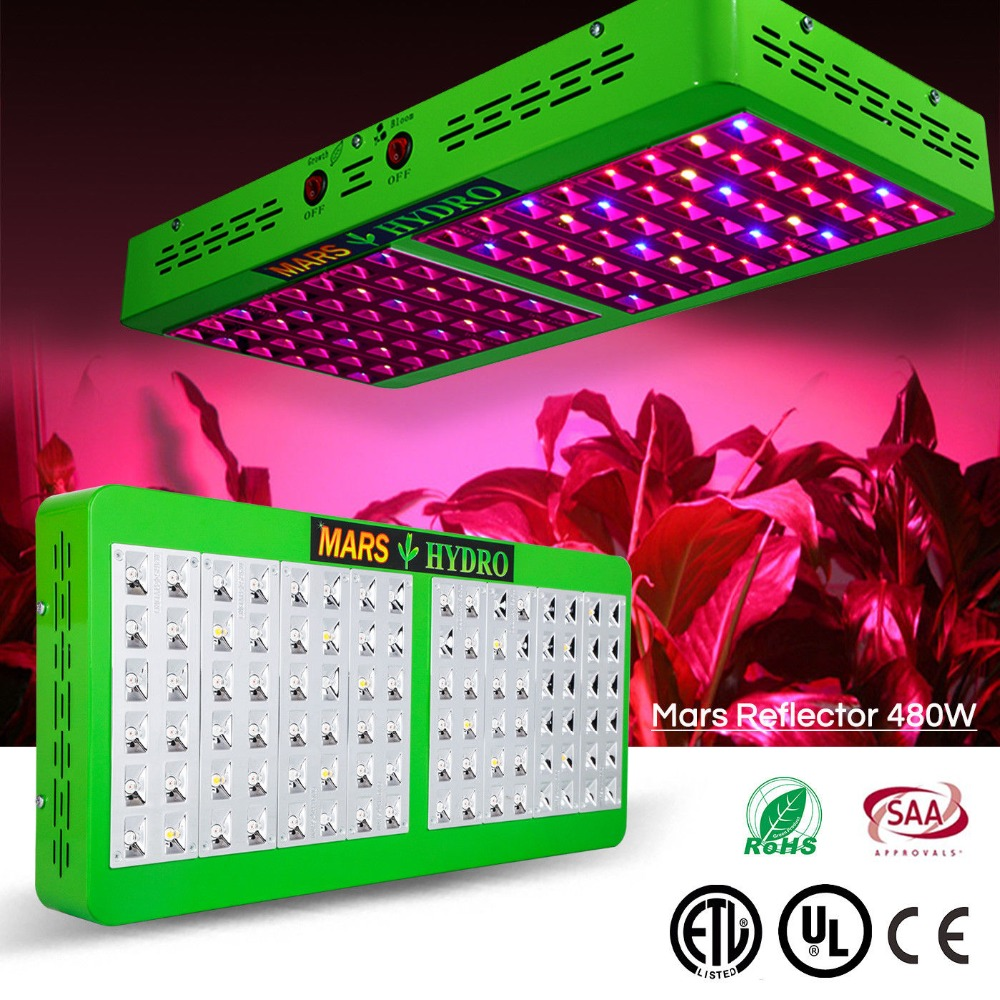 Mars Hydro Reflector 480W LED Plant Grow Light Full Spectrum Panel IR Blue Red White Hydroponic Indoor Plants NO Stock in Russia