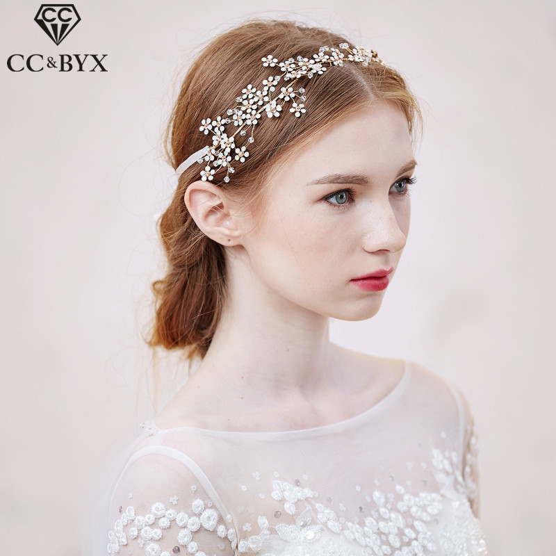 CC Jewelry Wedding Headband Bridal Crowns Hair Hairbands Wedding Hair Accessories For Women Bride Tiara Party Heaewear DIY 0507