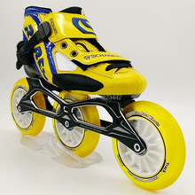 3 Wheel Inline Skates Children Glass Wheel Speed Skating Shoes Actually Speed Straight Row Patins Roller Skating Shoes 3X110mm
