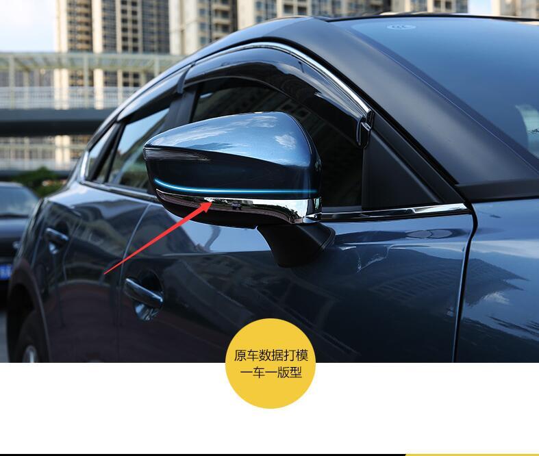 Auto Di Alta Qualità Copre Copertura Specchietto Laterale Copertura Dello Specchio Retrovisore Trim Trim Per Mazda Cx-2015 Cx5 Abs Cromato 2 Pz Per Set