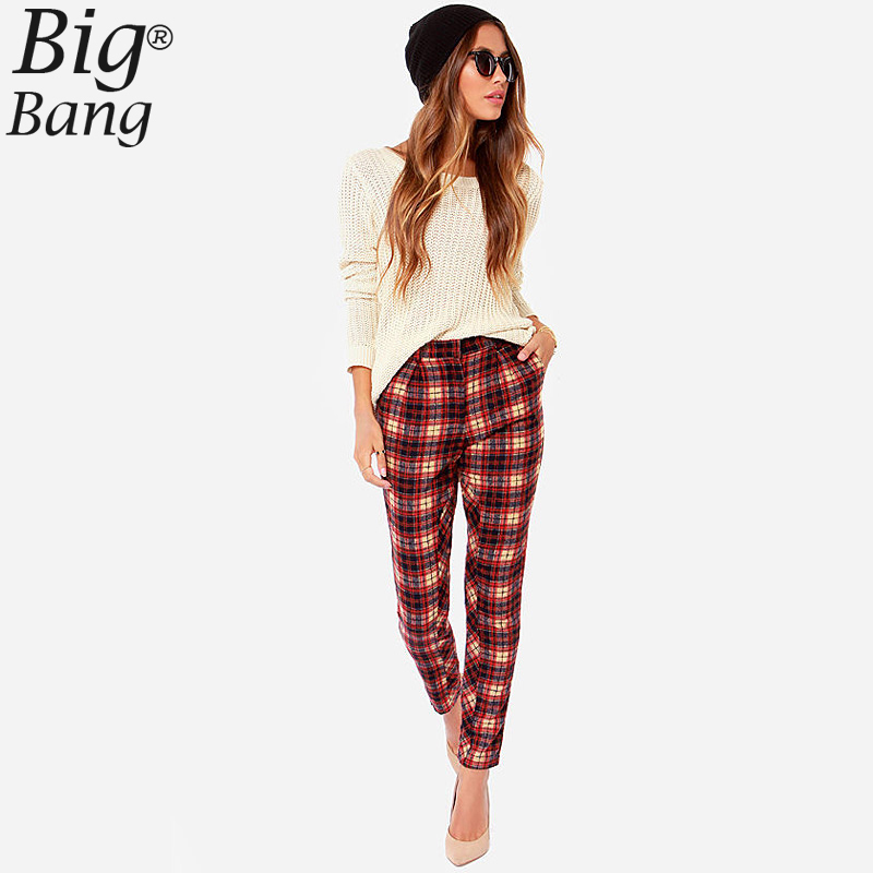 Popular Plaid Pants Women-Buy Cheap Plaid Pants Women lots from ...