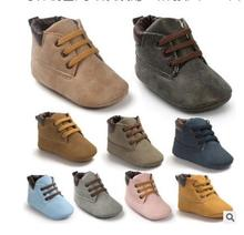 Brand Winter PU Outdoor suede Leather font b Baby b font moccasins Shoes infant anti slip