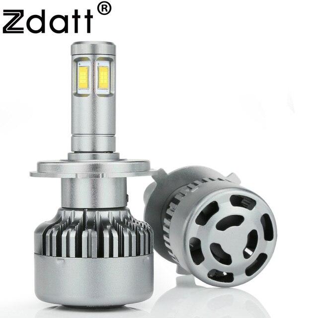 Zdatt H4 светодиодные лампочки H7 12 в лампы автомобиля фары Csp