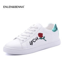 be64117001044 2017 Canvas Shoes Sneakers Leather Woman Platform Loafers Embroider  Creepers Spring Lace Up Flats Casual Flowers. 2017 Brezentowych Butów ...