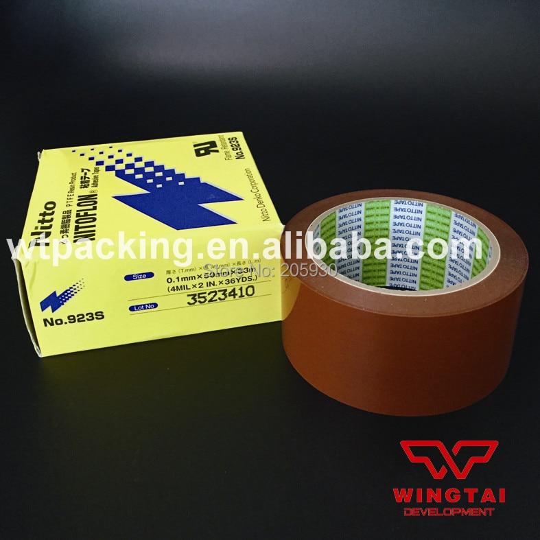 10 Pcs/lot Nitto 923S Orange Nitoflon T0.10mm*W50mm*L33m Nitto PTFE Adhesive Tape Heat Sealing