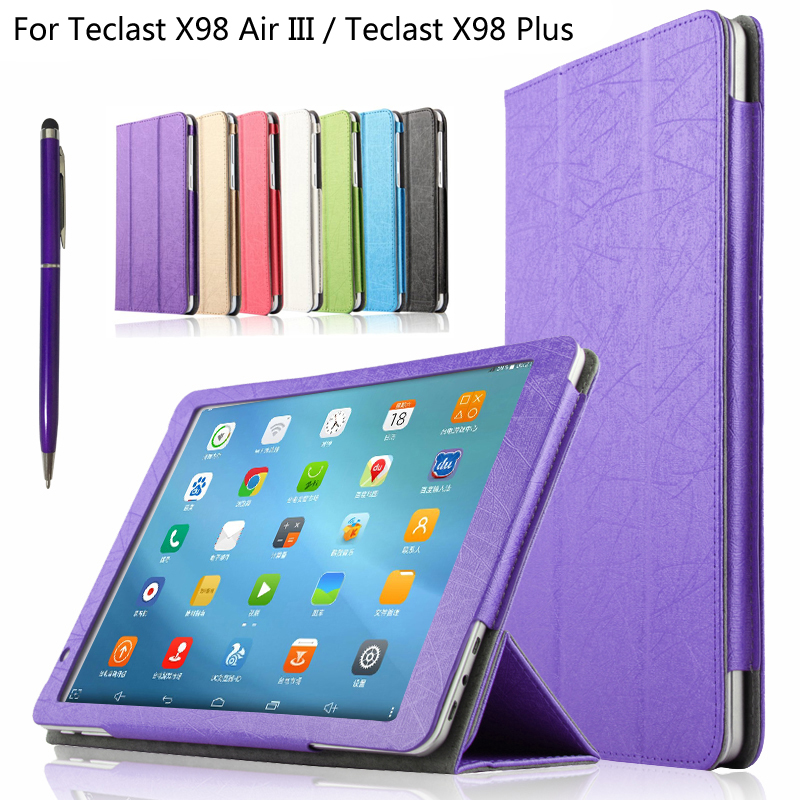 New Arrive For Teclast X98 Plus Flip Book PU Leather Stand Case For Teclast X98 Air III 9.7'' Tablet PC Protective Cover + Pen multi function green