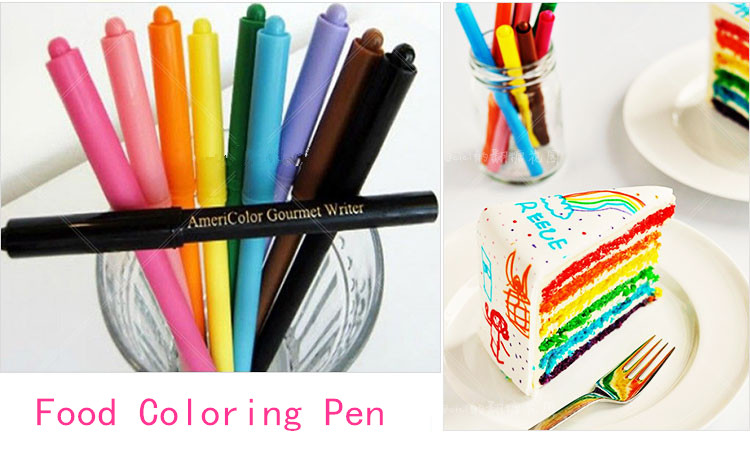 Food Coloring Pen Fondant Cake Cookie Tool For Drawing Americolor ...