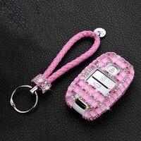 Car Key Case Shining Crystal Diamond Key Shell Cover Protect for Kia Rio Sportage 2016 Ceed Sorento Cerato Picanto K2 K3 K5 Gift