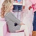Горячая Продажа 2016 Новый Осень/Зима Случайные Девушки Детей Платье Милые Дети Топы