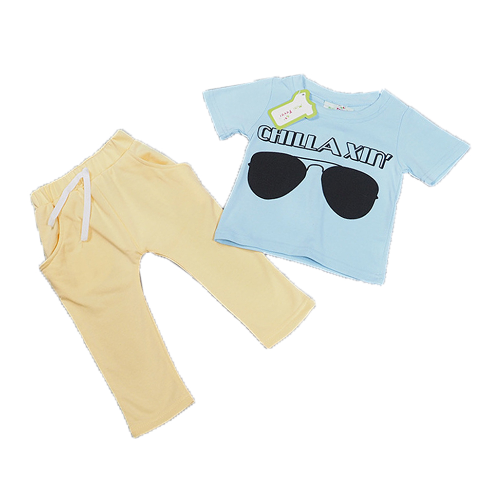 2018 Kids Clothing Sets Short sleeve T-Shirt + Pants, summer Children's Sports Suit Boys Clothes Free Shipping INS toddler boy цена