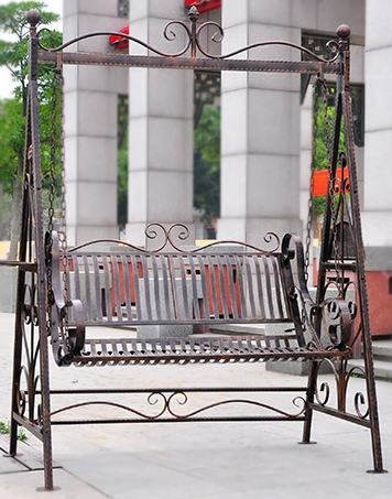 Simple Modern Iron Indoor Leisure Outdoor Double Rocking Chair Swing Hanging Balcony Chiaki
