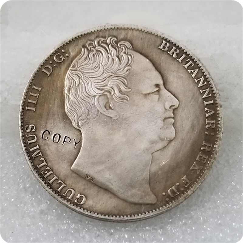 Năm 1837 ANH GB Thái William IV George và Rồng Đồng Phối Bạc COPY MIỄN PHÍ VẬN CHUYỂN