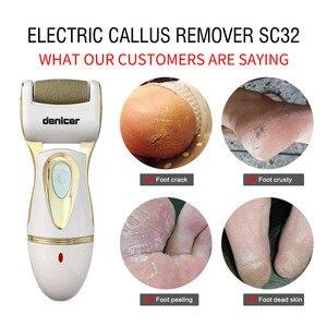 Image 3 - Akumulator kalus Remover elektryczne narzędzia do pedicure pielęgnacja stóp plików martwy obieraczka do skóry narzędzie Pedicura plik do + 7 głowice