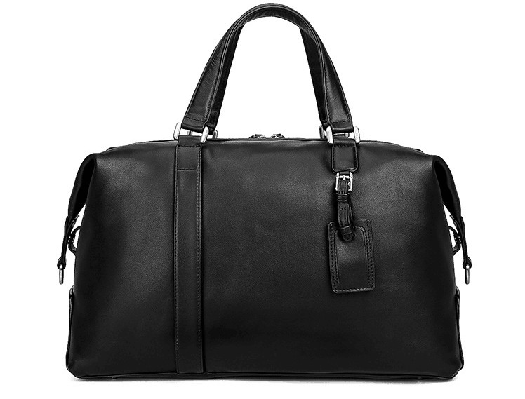 Outdoor Leisure Genuine Leather Soft Travel Holdall Cowskin Bag  High Quality