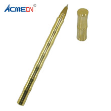 ACMECN Solid Brass Gel ink Pen 0.5mm Bamboo style 46g Heavy Joint Office Stationery Gifts Antique Signature Pens