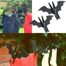 2 шт. летучая мышь клип Жуткий Хэллоуин Декор Бэтмен одежда полотенце крючок подвешенные колышки