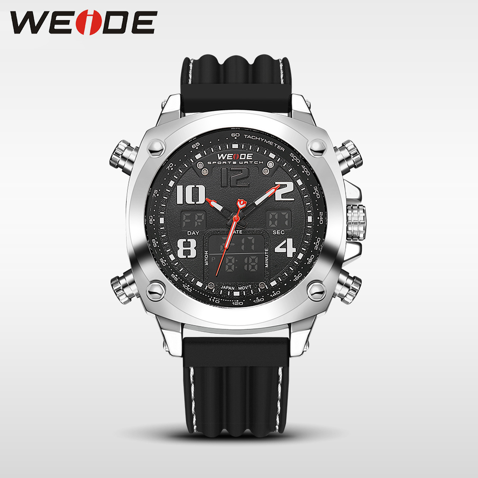 Man Wristwatch Leather Sports Watches Men Military Clock Relogio Masculino Outdoor Fashion Quartz Watch 2017 Top Brand New WEIDE fashion grand touring gt watch men silicone strap quartz watch car racing style military sports outdoor wristwatch 2016 new