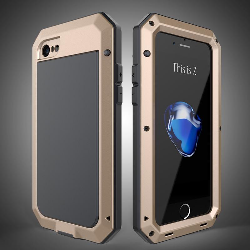 HTB187yeeKuSBuNjSsplq6ze8pXac Heavy Duty Protection Doom armor Metal Aluminum phone Case for iPhone 11 Pro Max XR XS MAX 6 6S 7 8 Plus X 5S 5 Shockproof Cover