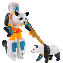 Puzzle Blocks  Materials Educational Toys Animal Deformation Robot Plastic Games For Children Transport Developing Toy