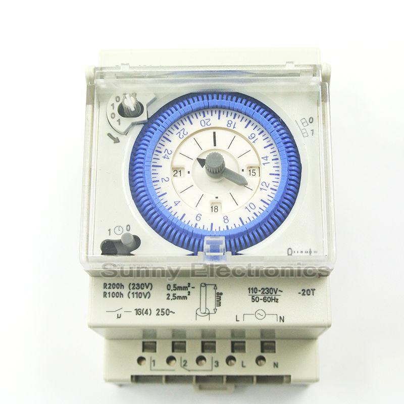 Messung Und Analyse Instrumente Sul 181d Analog 24 Stunden 3-modul Segment Mechanische Din Schiene Timer Schalter Mit Power Reserve Sul181d
