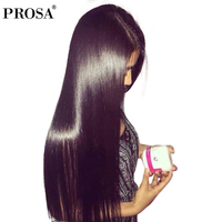 Pre Plucked Full Lace Human Hair Wigs For Women Straight 180% Density Glueless Brazilian Full Lace Wig With Baby Hair Prosa Remy