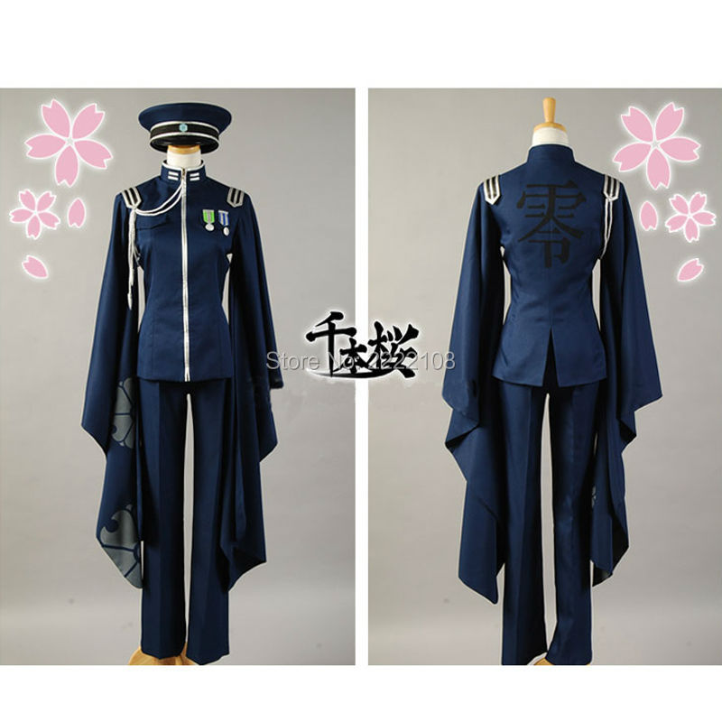 Vocaloid Senbon Zakura SenbonZakura KAITO Cosplay Costume Unisex Adult Uniform Full Suits Halloween Women Men Cheap Clothes Wigs