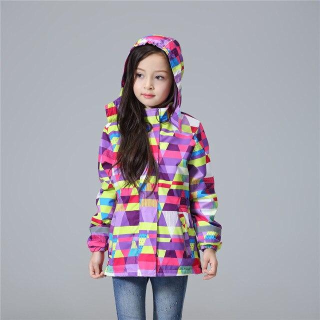 Лидер продаж Водонепроницаемая и ветрозащитная верхняя одежда для детей Куртки для маленьких девочек Детская куртка теплый флис для От 3 до 12 лет Весна-осень-зима