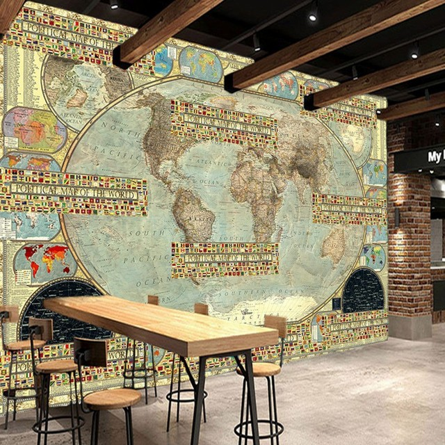 Custom size photo high definition retro world map murals flag custom size photo high definition retro world map murals flag parquet tooling background wall living room gumiabroncs Gallery