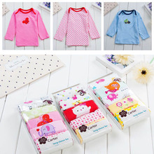 5 pcs/pack new 2018 Girls Boys long sleeve 100%Cotton T-shirt Baby & Kids tops tees cartoon o-neck toddler infant clothes