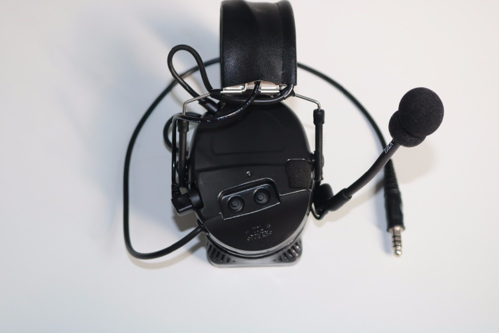 TAC-SKY COMTAC I Silicone Earmuff Version Noise Reduction Pickup Headset -BK