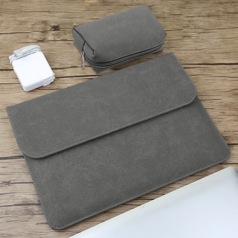 New Matte PU Laptop Sleeve Bag For Xiaomi Macbook Pro touch bar 13 Case Air 13 11 12 <font><b>15</b></font> Cover for Lenovo Dell <font><b>Asus</b></font> 14 <font><b>15</b></font>.6 Bags image