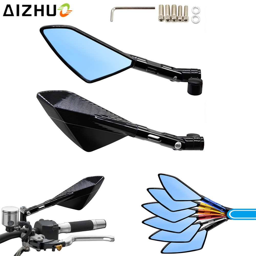 Motorcycle Rear View Mirror Motor Accessory Universal CNC Rearview Handlebar Mirrors For R NINE T F700GS F650GS F800GS R1200GS