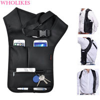 Anti Theft Women Armpits Shoulder Messenger Cross Package Fashion Cool Male Invisible Backpack Anti Theft Bag