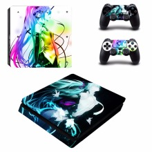 Anime Hatsune Miku PS4 Slim Skin Sticker and 2 Controllers PS4 Slim Skins Sticker Vinyl