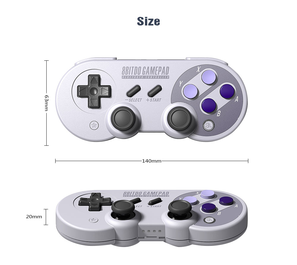 Official 8BitDo SN30 Pro Wireless Bluetooth Gamepad Controller with Joystick for Windows Android macOS Nintendo Switch Steam 19