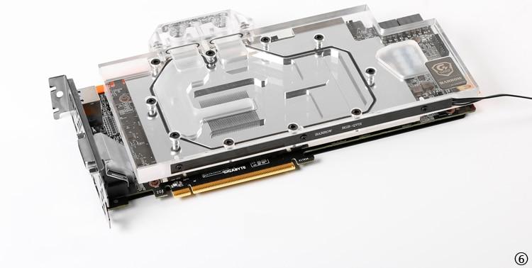 Купить с кэшбэком BARROW Full Cover Graphics Card Block use for GIGABYTE GTX1080TI Xtreme/GV-N108TAORUS X-11GD GPU Radiator RGB to AURA 4PIN Light