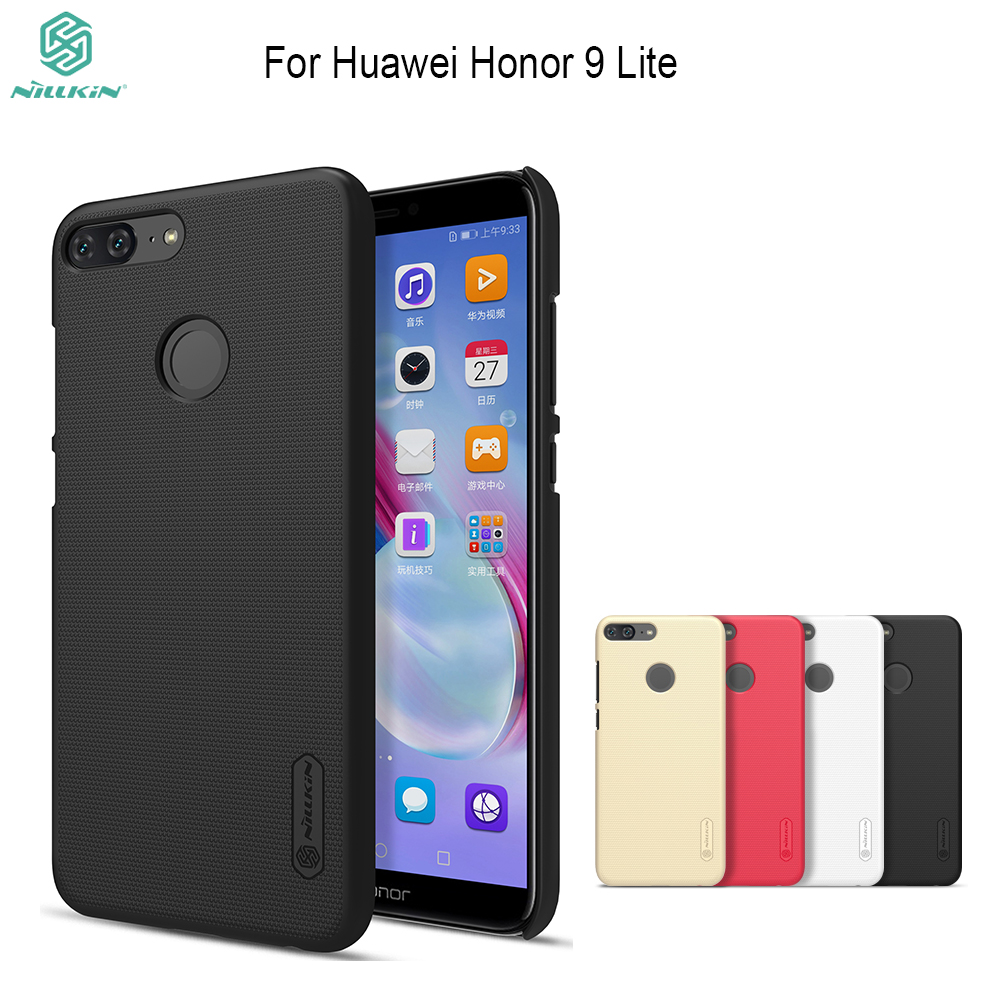 For <font><b>honor</b></font> <font><b>9</b></font> <font><b>lite</b></font> Cover case <font><b>Nillkin</b></font> Super frosted hard plastic back cover + screen protector for huawei <font><b>Honor</b></font> <font><b>9</b></font> <font><b>Lite</b></font> case image