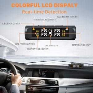 Image 2 - Solar Auto Tire Pressure Monitoring System TPMS Auto 4 Sensor Reifen Druck Alarm Che Tester