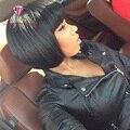 Короткие человеческих волос боб парик девственница волосы прямые фронта боб парики для чернокожих женщин Glueless человеческих волос парик боб с