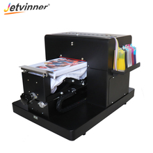 Jetvinner A4 size Flatbed Printer for EPSON L800 R330 Print Machine for T shirt Cotton Clothing
