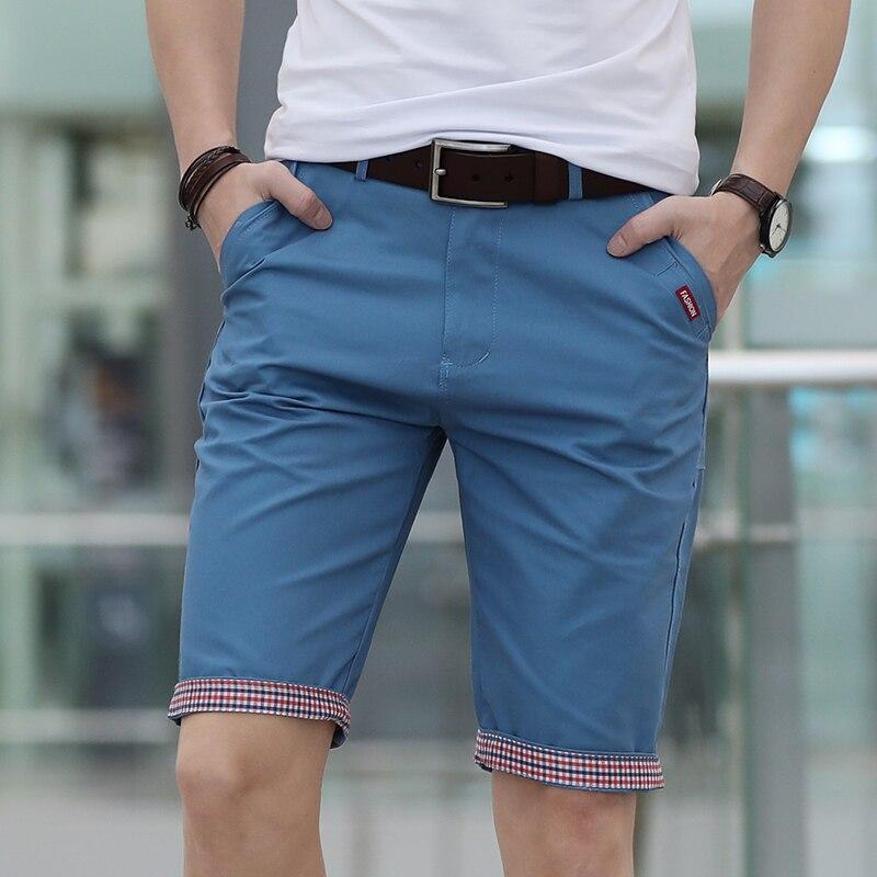 Calções de verão homens qualidade algodão curto masculino formal formal formal shorts masculino confortável bermuda plus size 28-40 asiático szie